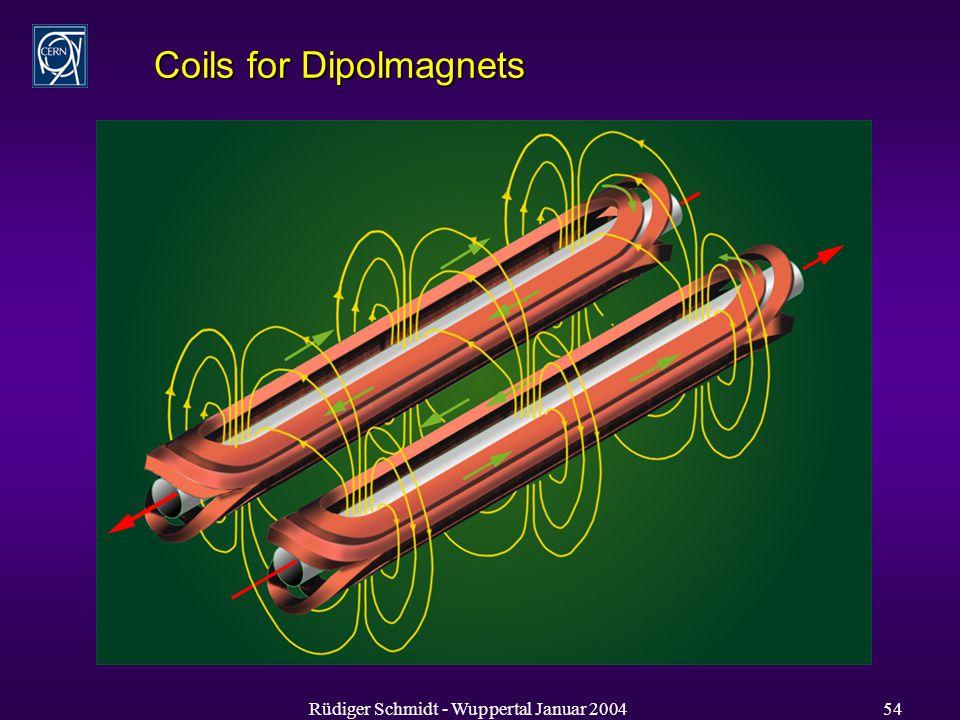 Rüdiger Schmidt - Wuppertal Januar 200454 Coils for Dipolmagnets