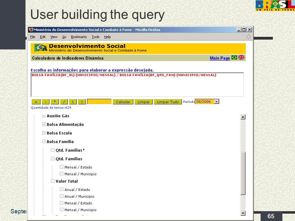 September 2006Caio Nakashima 65 User building the query