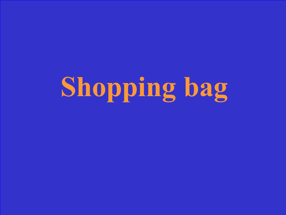 "What would ""un sac à shopping"" mean"