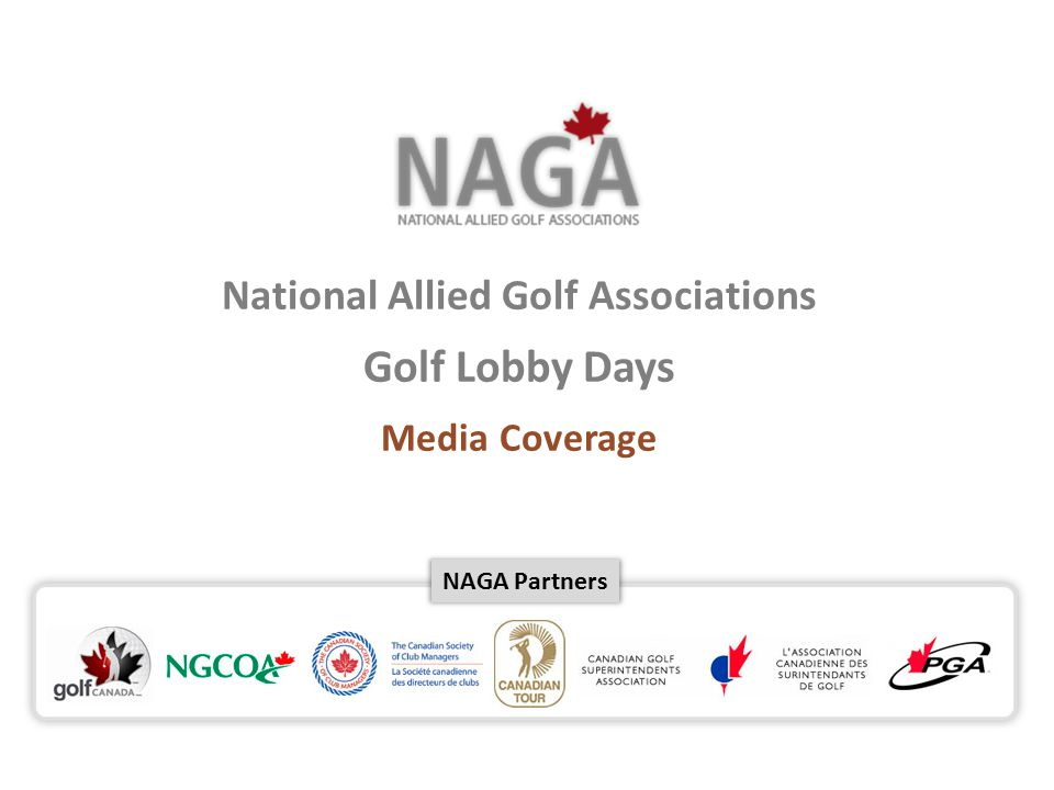 NAGA Partners National Allied Golf Associations Golf Lobby Days Media Coverage