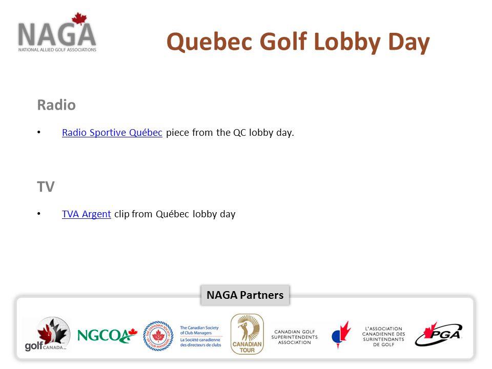 NAGA Partners Radio Radio Sportive Québec piece from the QC lobby day.