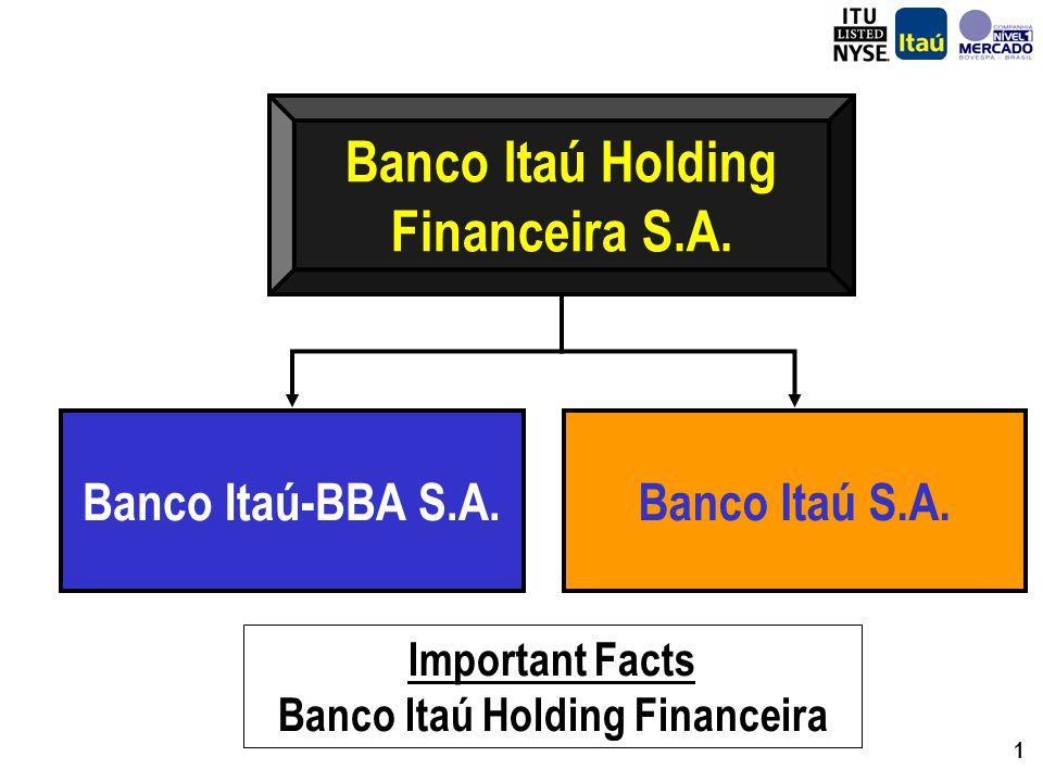 1 Banco Itaú Holding Financeira S.A. Banco Itaú S.A.Banco Itaú-BBA S.A.