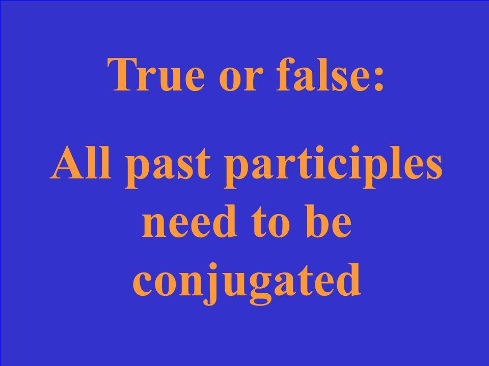 Aller takes être as a helping verb in passé composé.