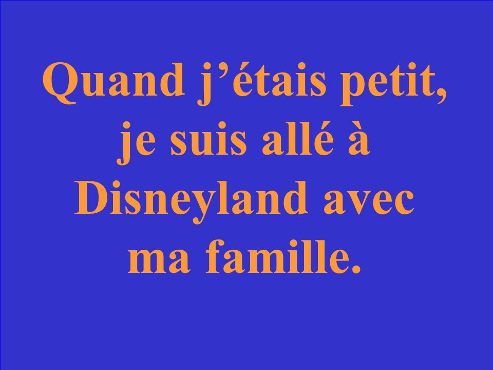 Translate: When I was little I went to Disneyland with my family.