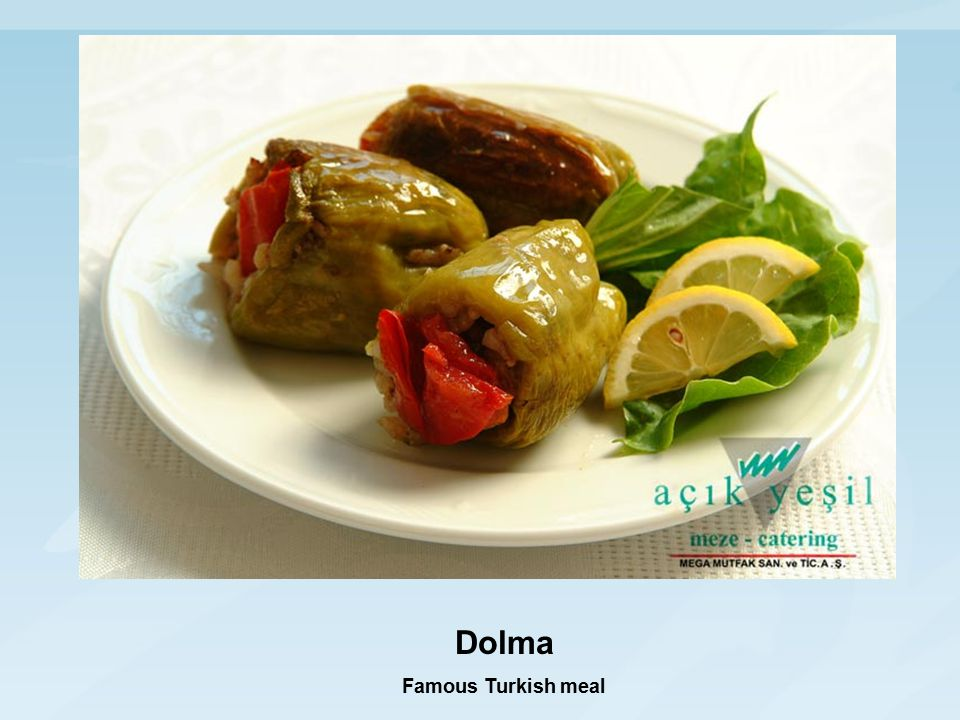 Dolma Famous Turkish meal