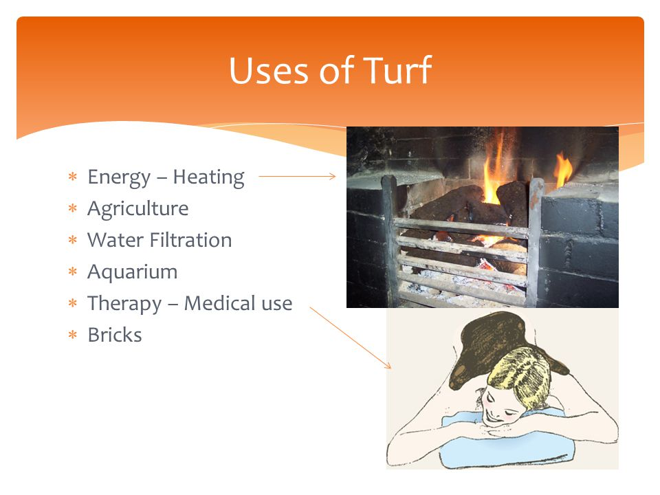 Turf  Turf = peat  Accumulation of decayed vegetation of organic matter  Forms in wetland conditions (less oxygen  slow decomposition)