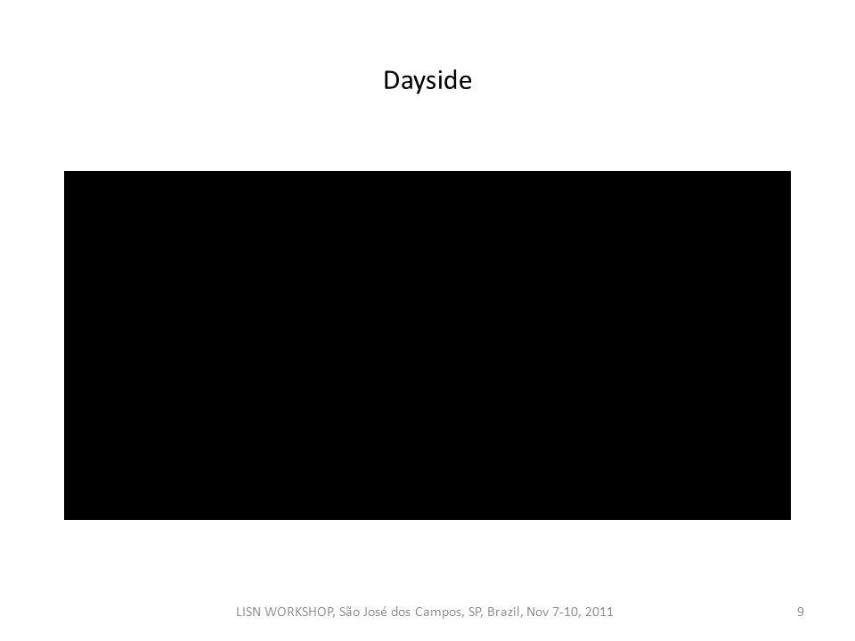 Dayside LISN WORKSHOP, São José dos Campos, SP, Brazil, Nov 7-10, 20119