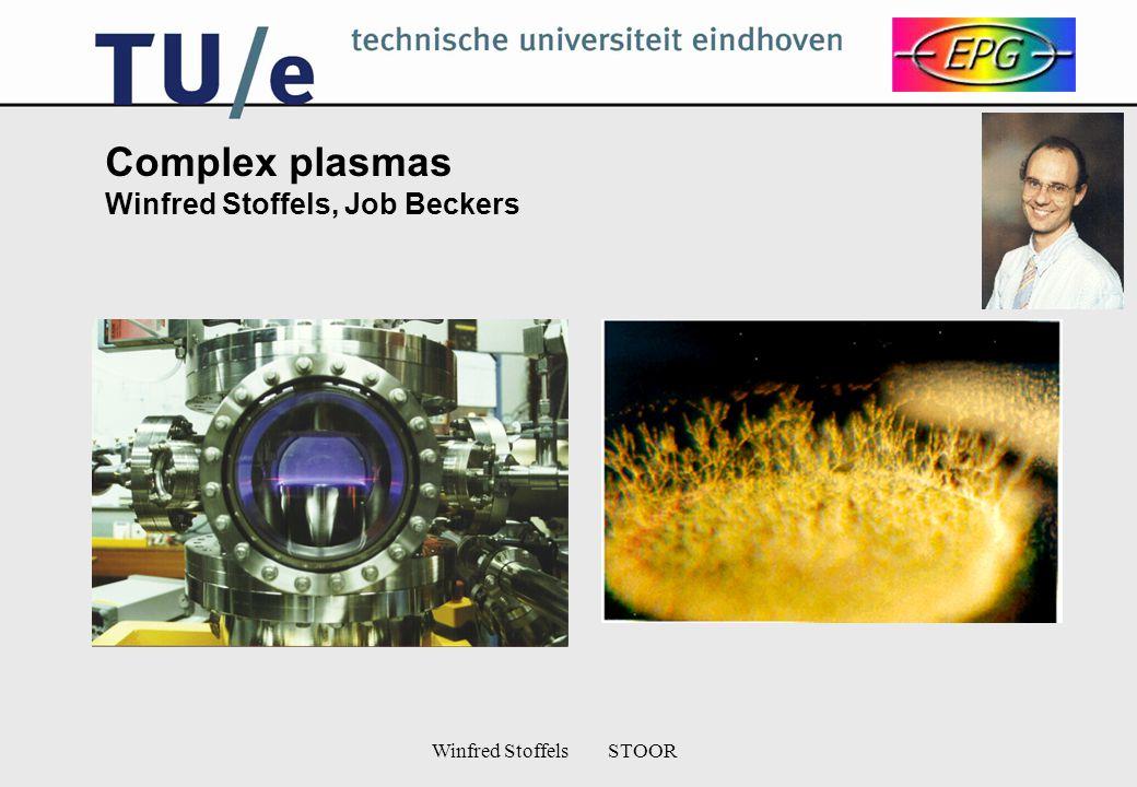 Winfred Stoffels STOOR Complex plasmas Winfred Stoffels, Job Beckers