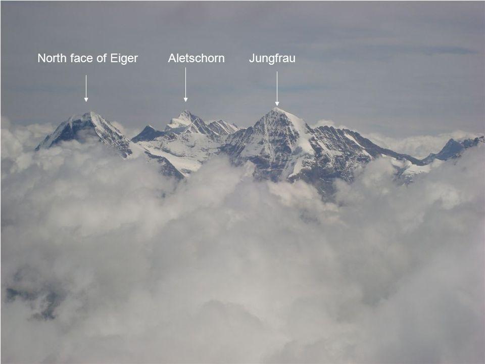 North face of Eiger Aletschorn Jungfrau