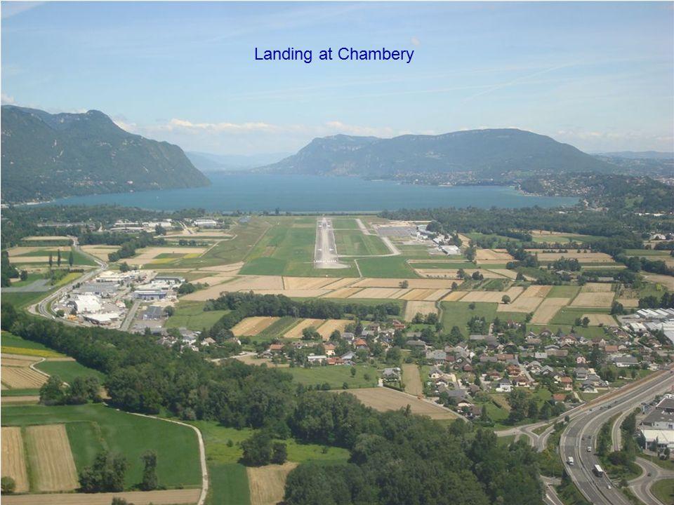Landing at Chambery