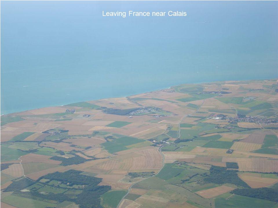 Leaving France near Calais