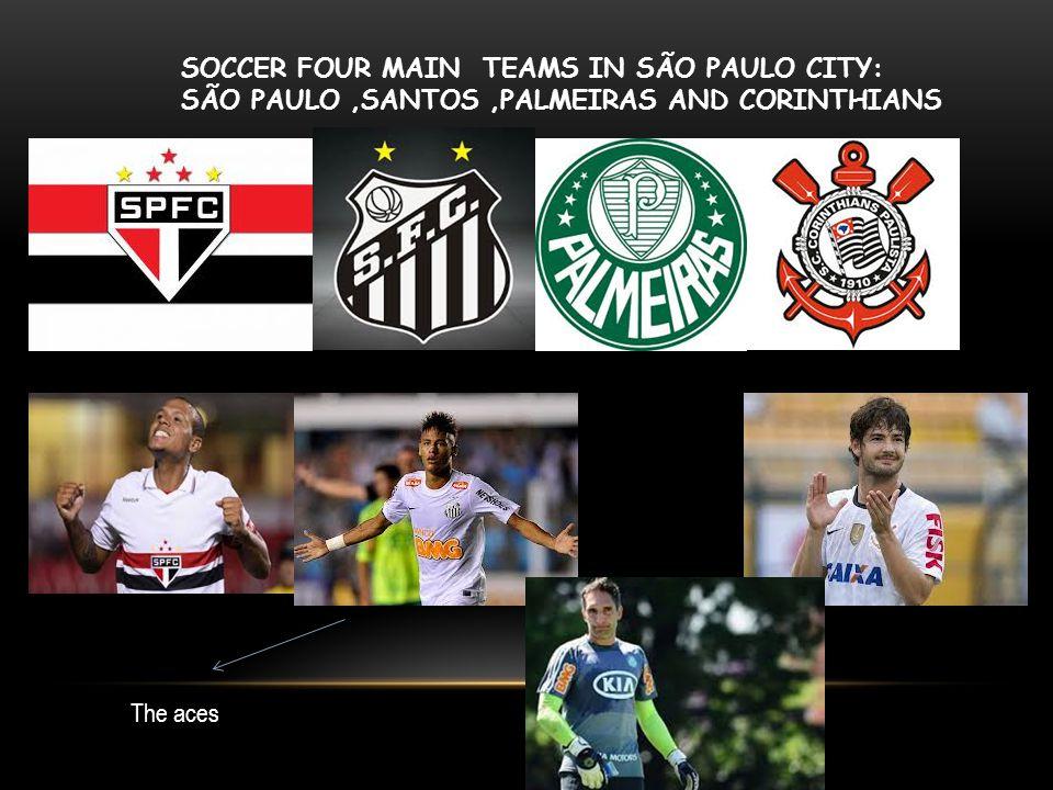 SOCCER FOUR MAIN TEAMS IN SÃO PAULO CITY: SÃO PAULO,SANTOS,PALMEIRAS AND CORINTHIANS The aces