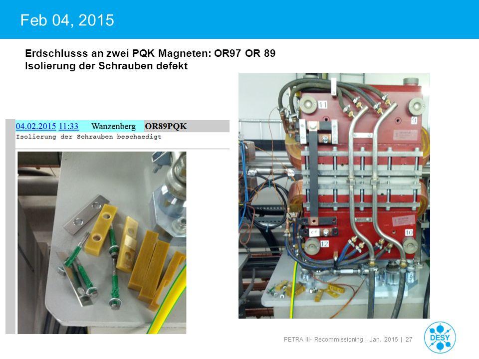 PETRA III- Recommissioning | Jan.