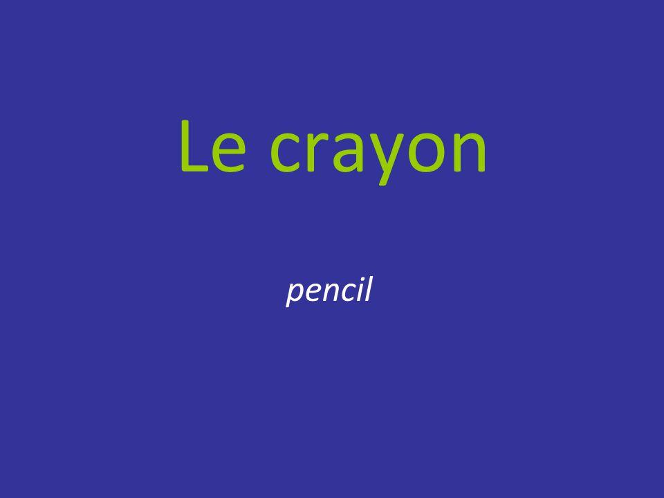 Le crayon pencil