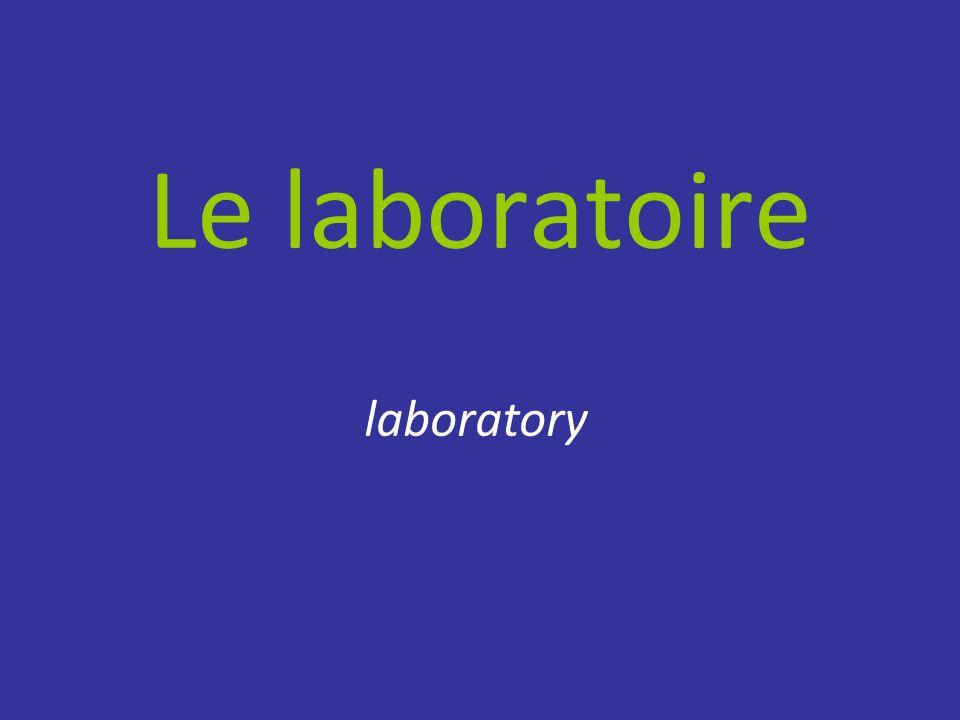 Le laboratoire laboratory