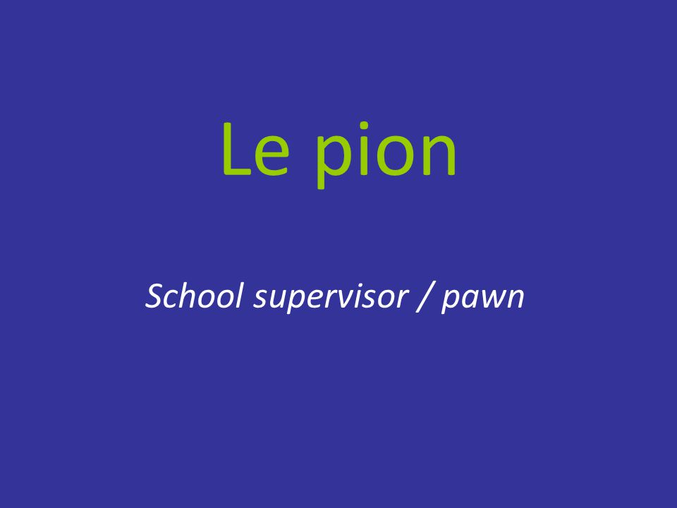 Le pion School supervisor / pawn