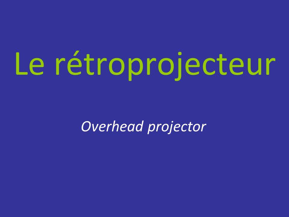 Le rétroprojecteur Overhead projector