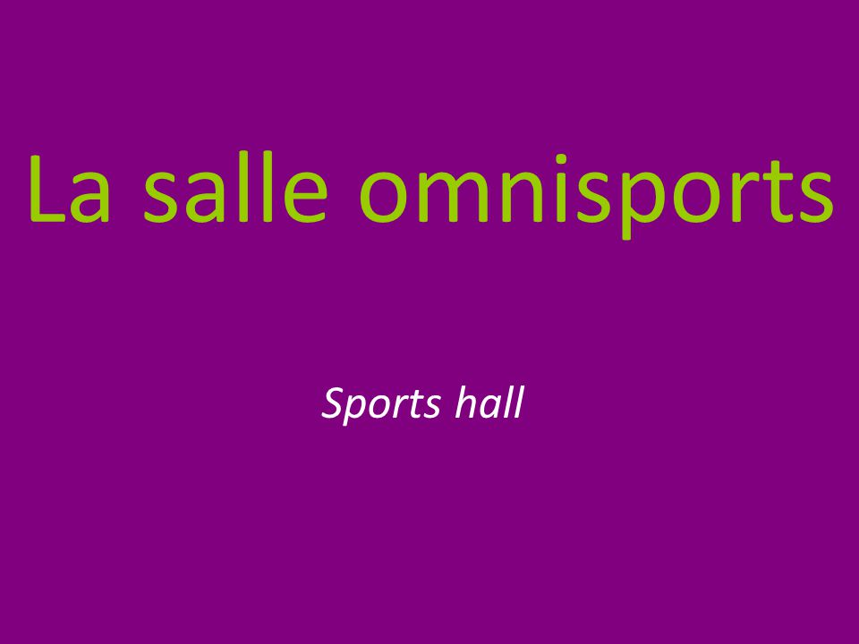 La salle omnisports Sports hall