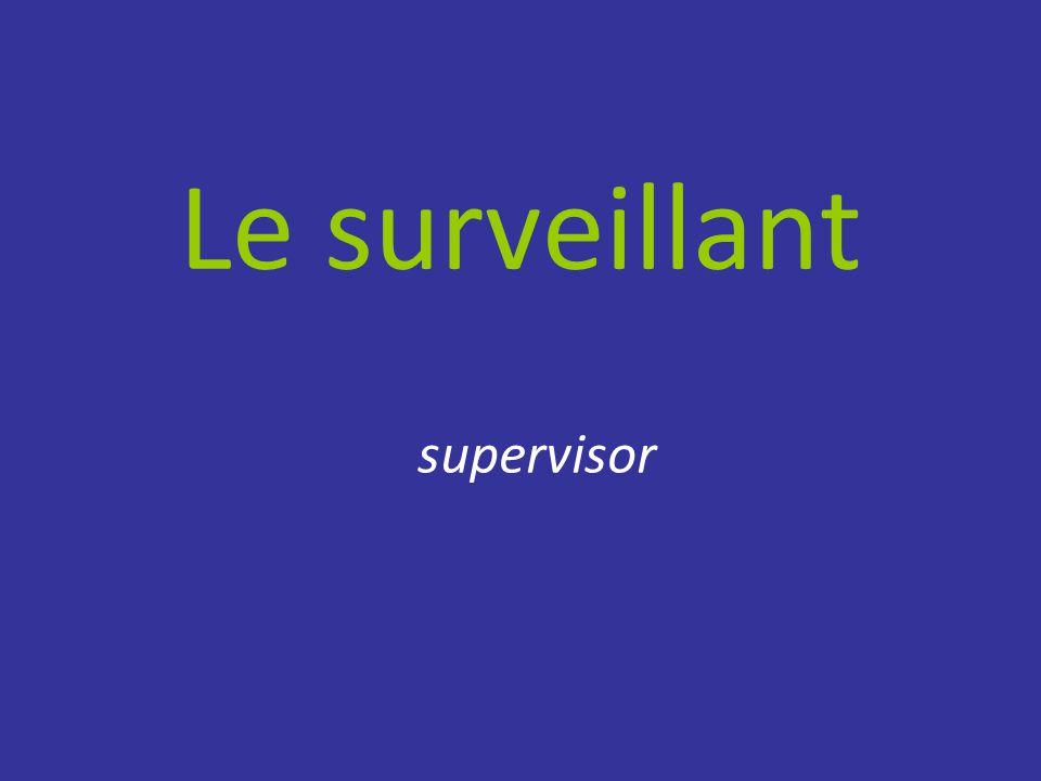 Le surveillant supervisor