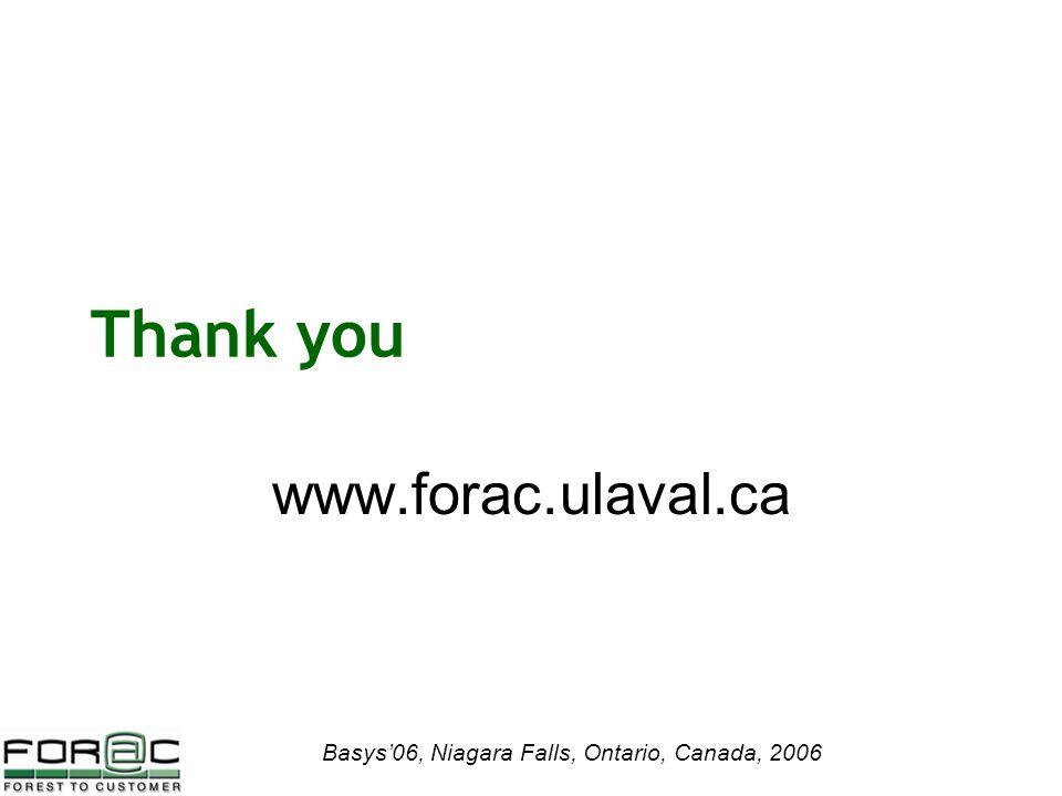 Basys'06, Niagara Falls, Ontario, Canada, 2006 Thank you www.forac.ulaval.ca