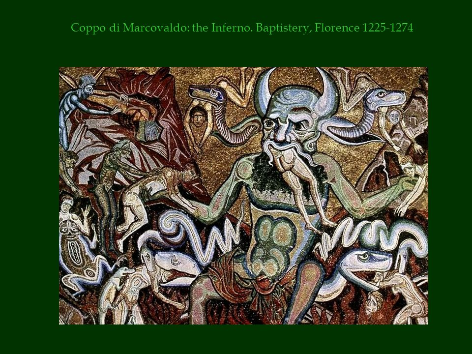 Coppo di Marcovaldo: the Inferno. Baptistery, Florence 1225-1274