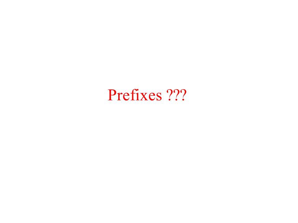 Prefixes ???