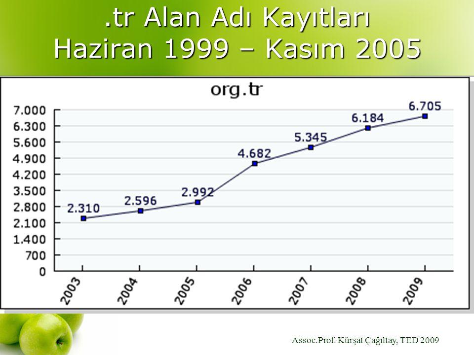 Assoc.Prof. Kürşat Çağıltay, TED 2009.tr Alan Adı Kayıtları Haziran 1999 – Kasım 2005