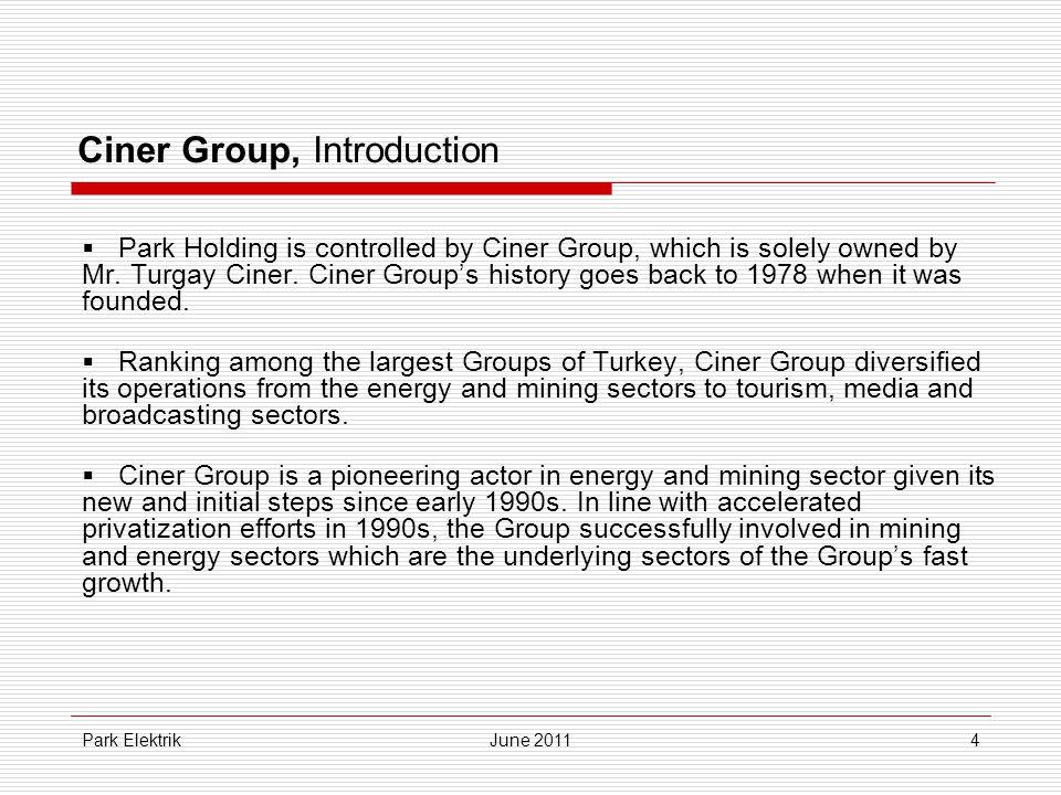Park ElektrikJune 201135 Income Statement (TL)