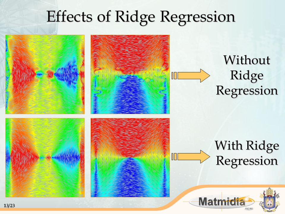13/23 Effects of Ridge Regression With Ridge Regression Without Ridge Regression