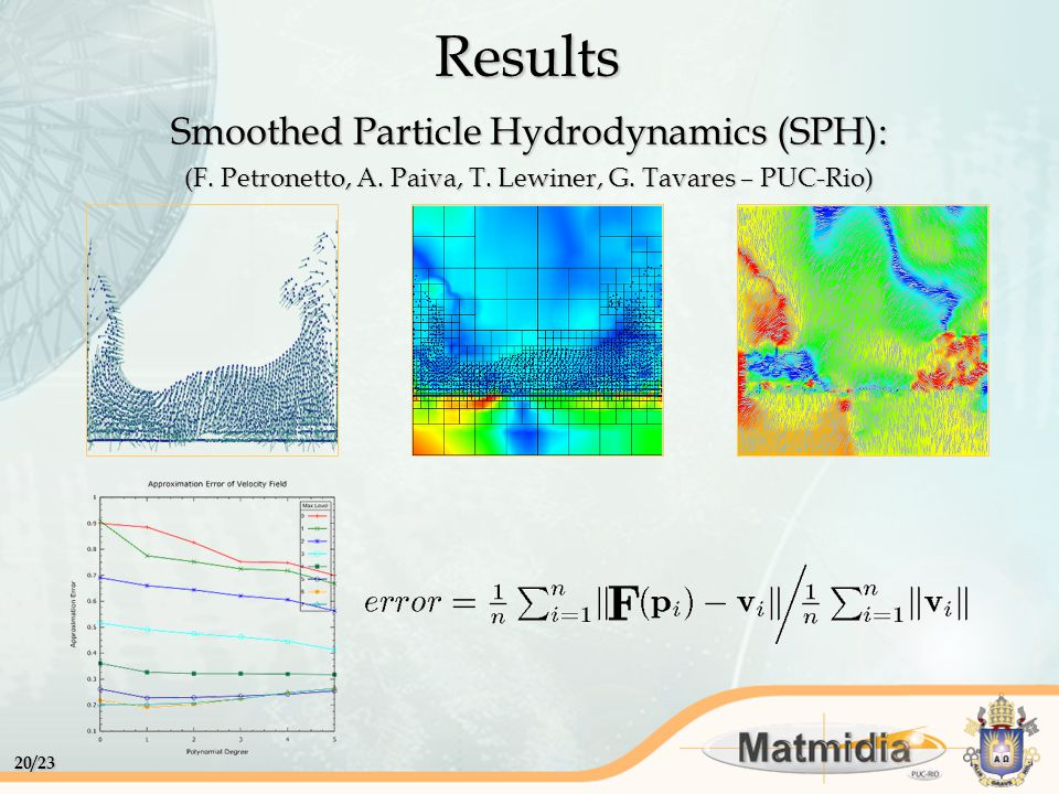 20/23 Smoothed Particle Hydrodynamics (SPH): (F.Petronetto, A.