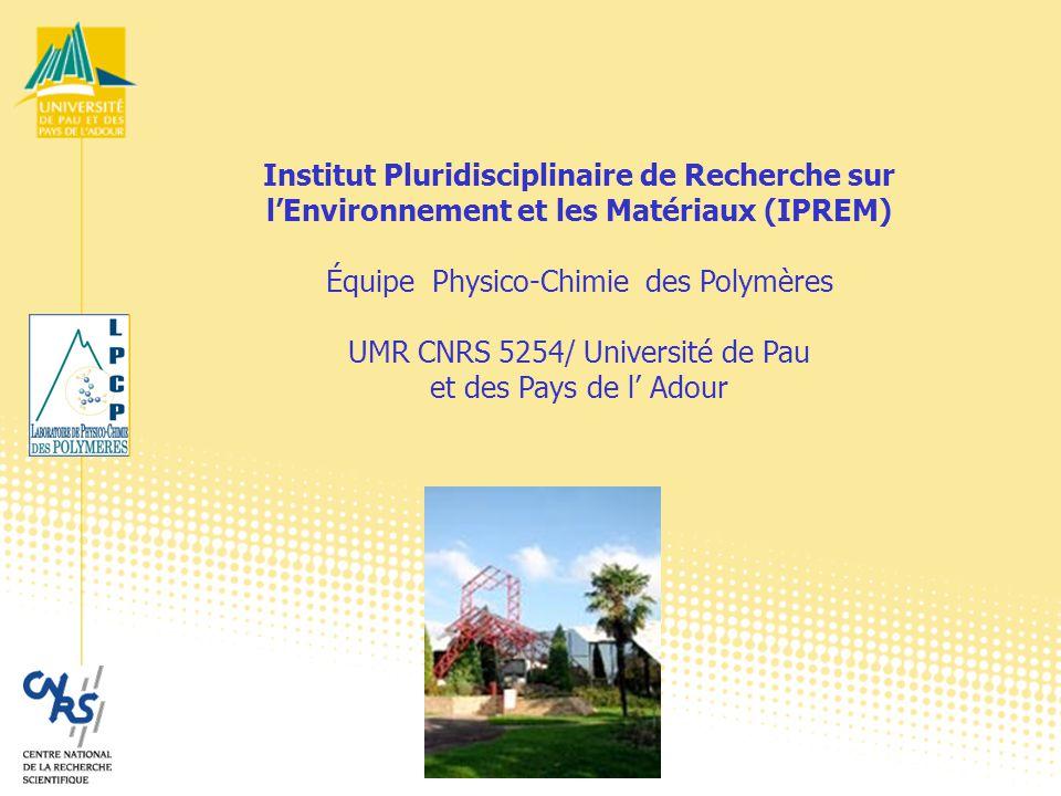 Institut Pluridisciplinaire de Recherche sur l'Environnement et les Matériaux (IPREM) Équipe Physico-Chimie des Polymères UMR CNRS 5254/ Université de Pau et des Pays de l' Adour
