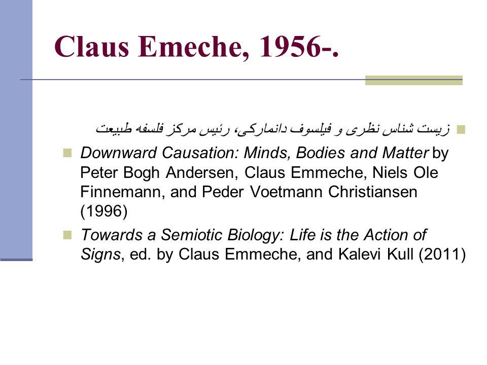Claus Emeche, 1956-.