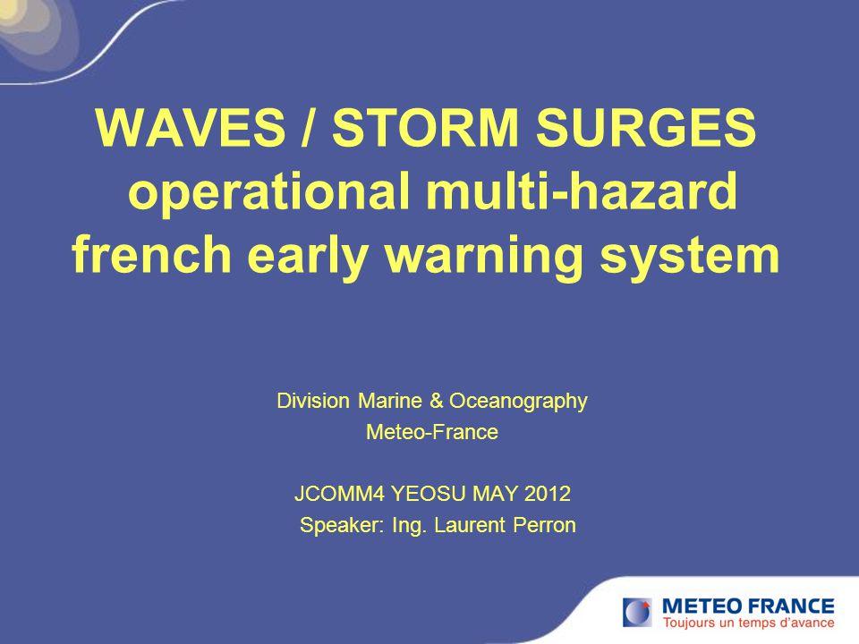 JCOMM4 YEOSU MAY 2012 extreme sea levels statistics (© CETMEF/SHOM 2008).