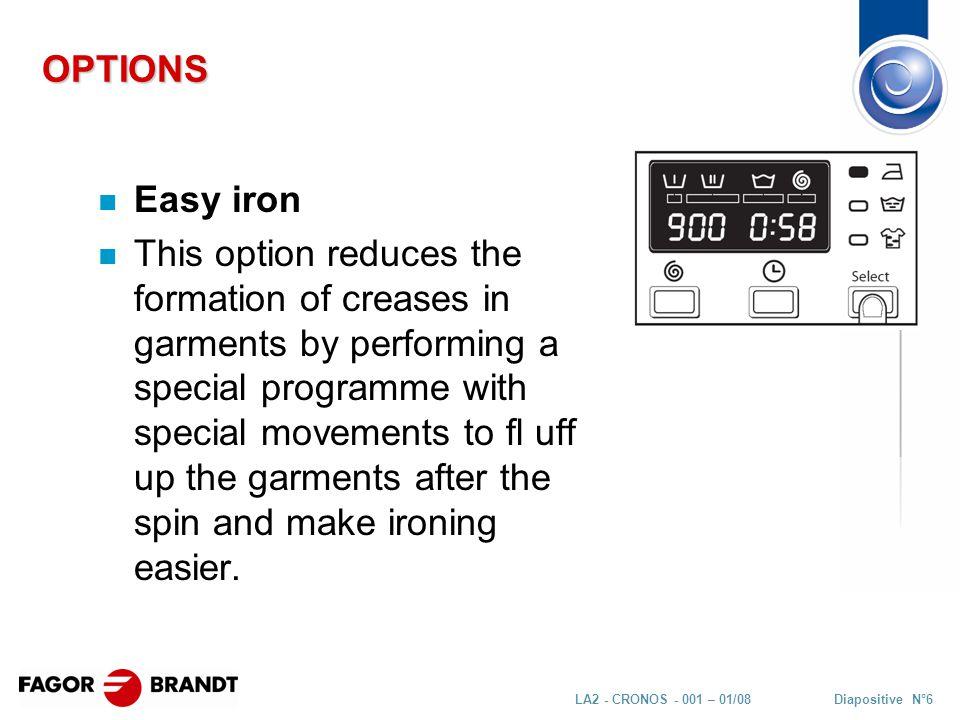 Diapositive N°27LA2 - CRONOS - 001 – 01/08 MAIN COMPONENTS Spraying + draining pumps