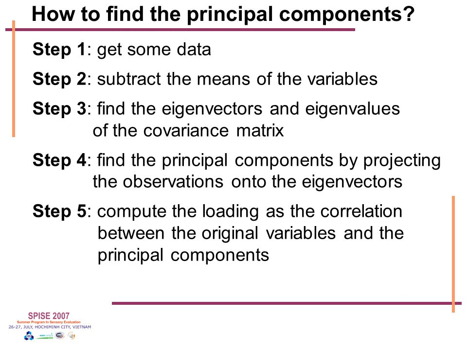 How to find the principal components.