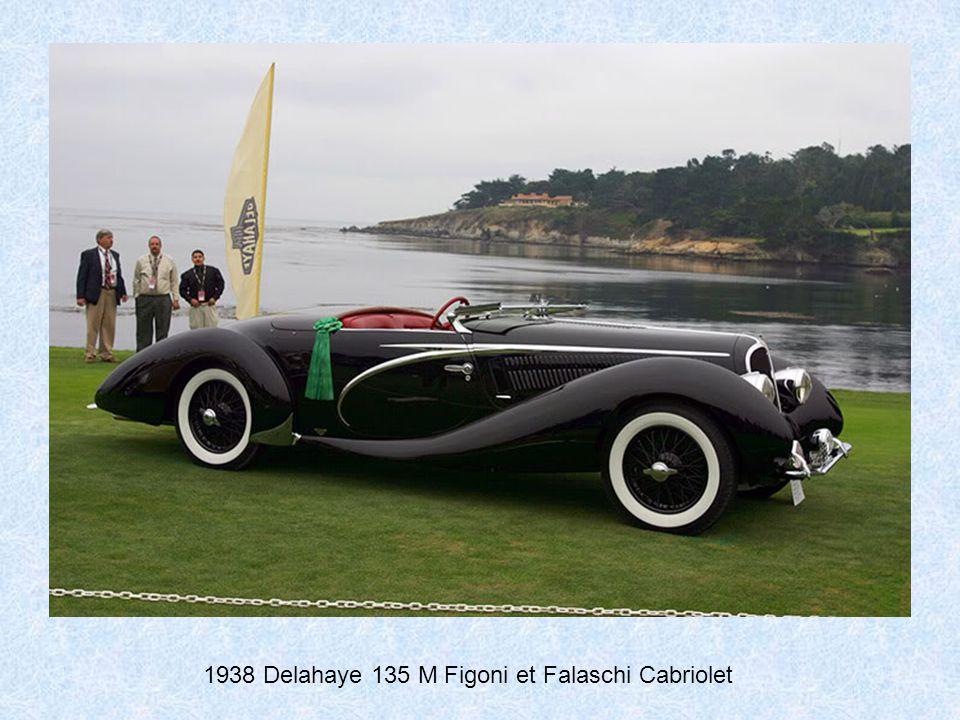 1938 Delage D8-120 VanVooren Cabriolet