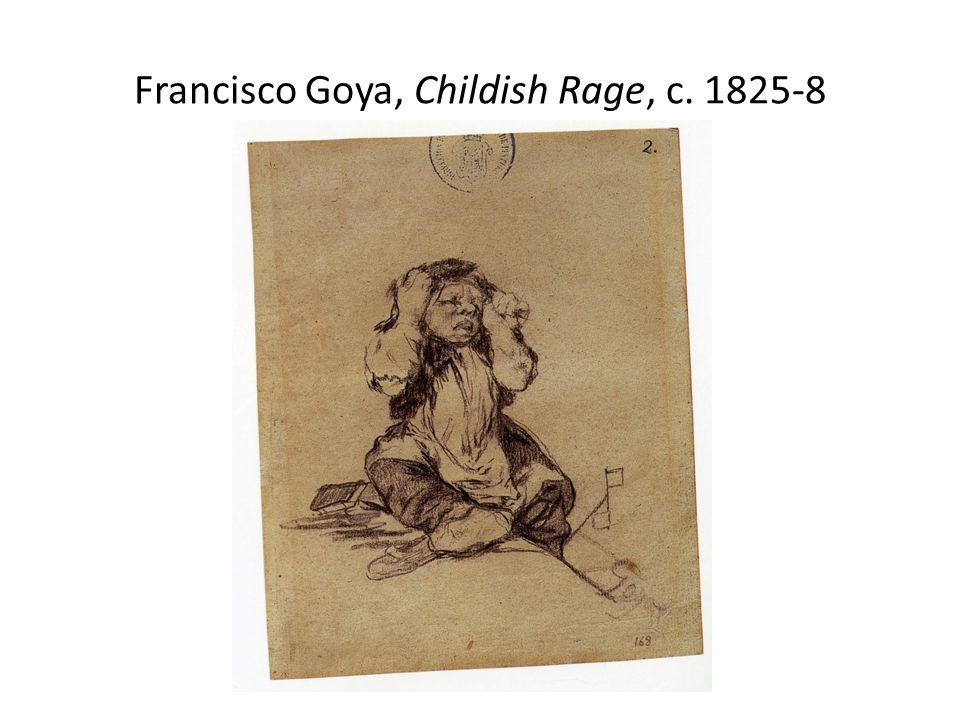 Francisco Goya, Childish Rage, c. 1825-8