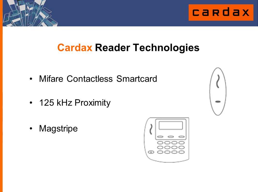 Cardax Reader Technologies Mifare Contactless Smartcard 125 kHz Proximity Magstripe