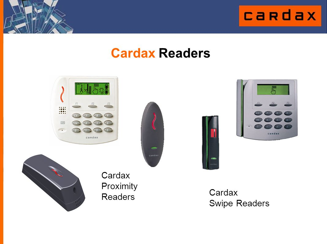 Cardax Swipe Readers Cardax Readers Cardax Proximity Readers