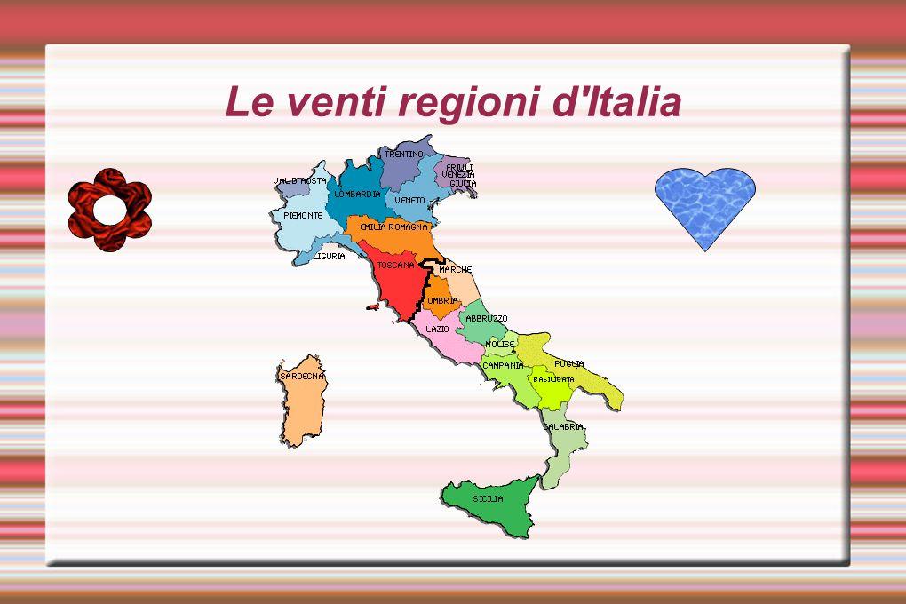 Le venti regioni d'Italia