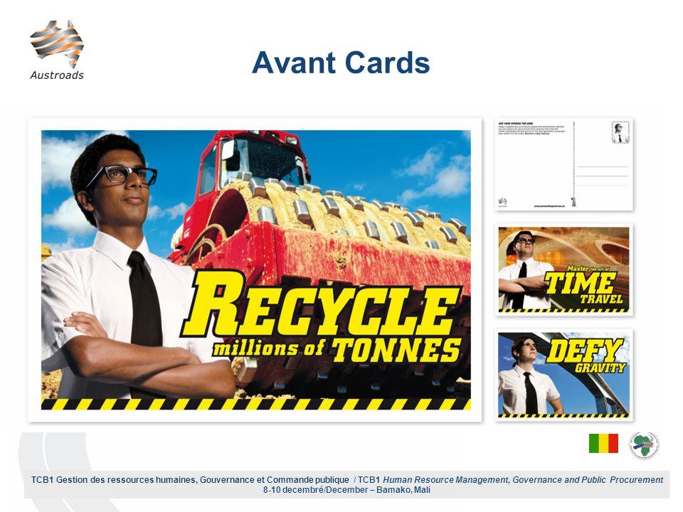 TCB1 Gestion des ressources humaines, Gouvernance et Commande publique / TCB1 Human Resource Management, Governance and Public Procurement 8-10 decembré/December – Bamako, Mali Avant Cards