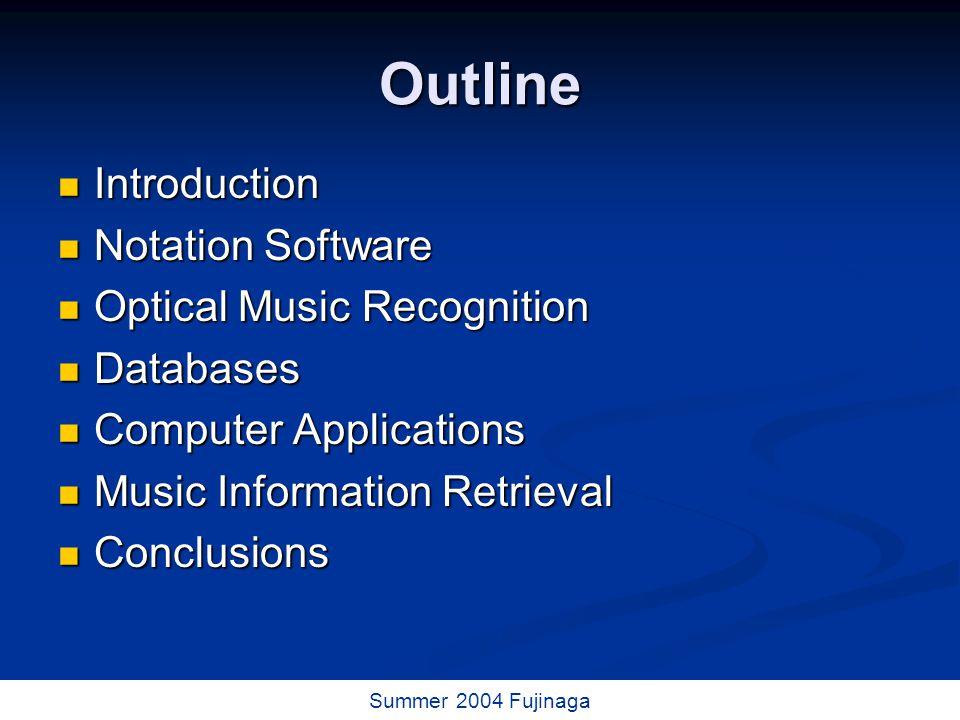 43 / 73 Summer 2004 Fujinaga Classical Music Resources (Duke University)