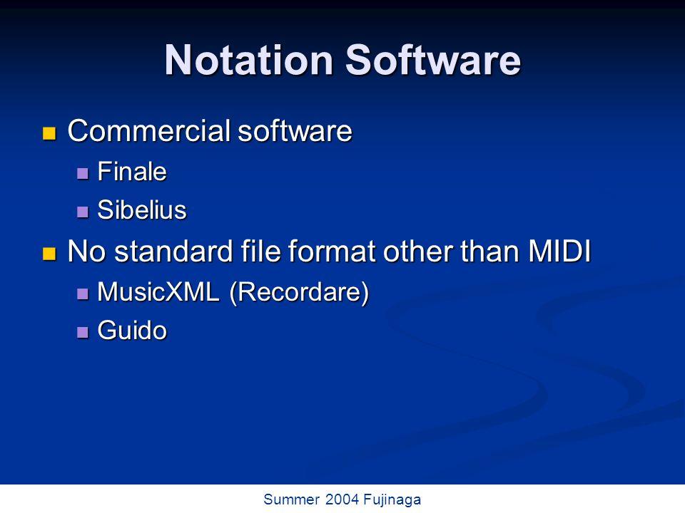 46 / 73 Summer 2004 Fujinaga Music databases (indices) CANTUS (U.