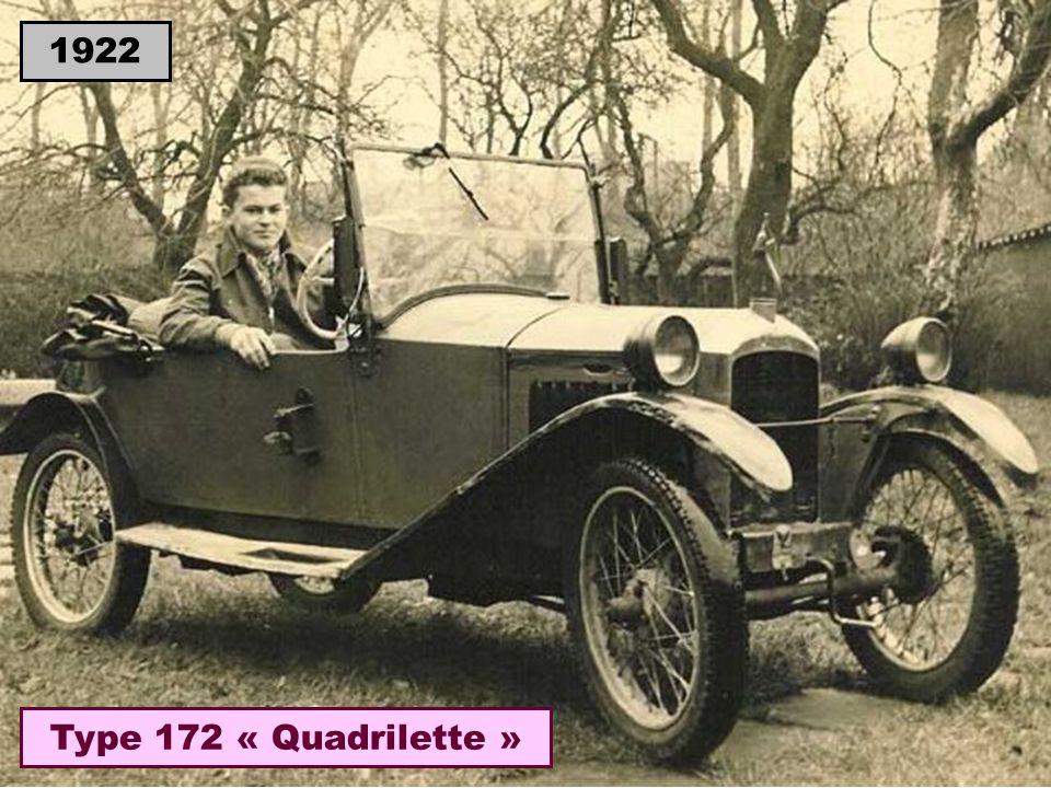 1922 Type 172 « Quadrilette »