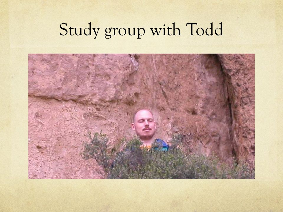 Study group with Todd