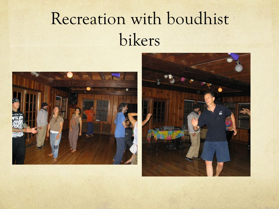 Recreation with boudhist bikers