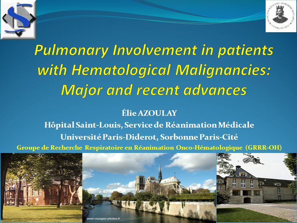 Three major advances: -Leukemic infiltrates -Non invasive diagnostic strategy -ARDS
