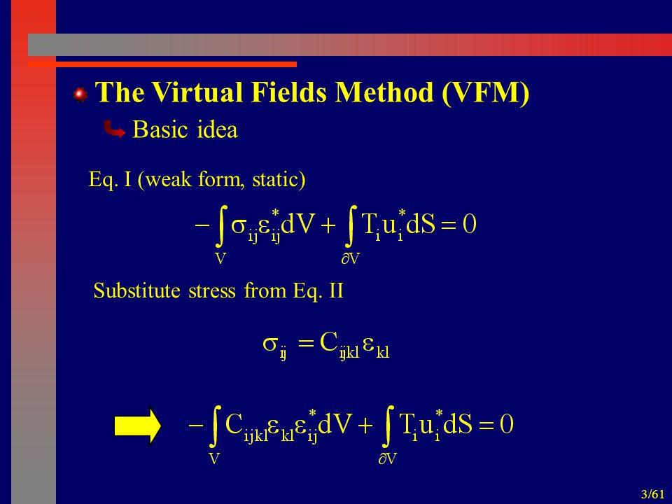 3/61 The Virtual Fields Method (VFM) Basic idea Eq.