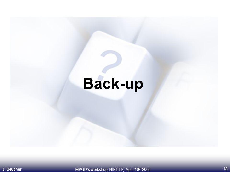 18 MPGD's workshop, NIKHEF, April 16 th 2008 J. Beucher Back-up