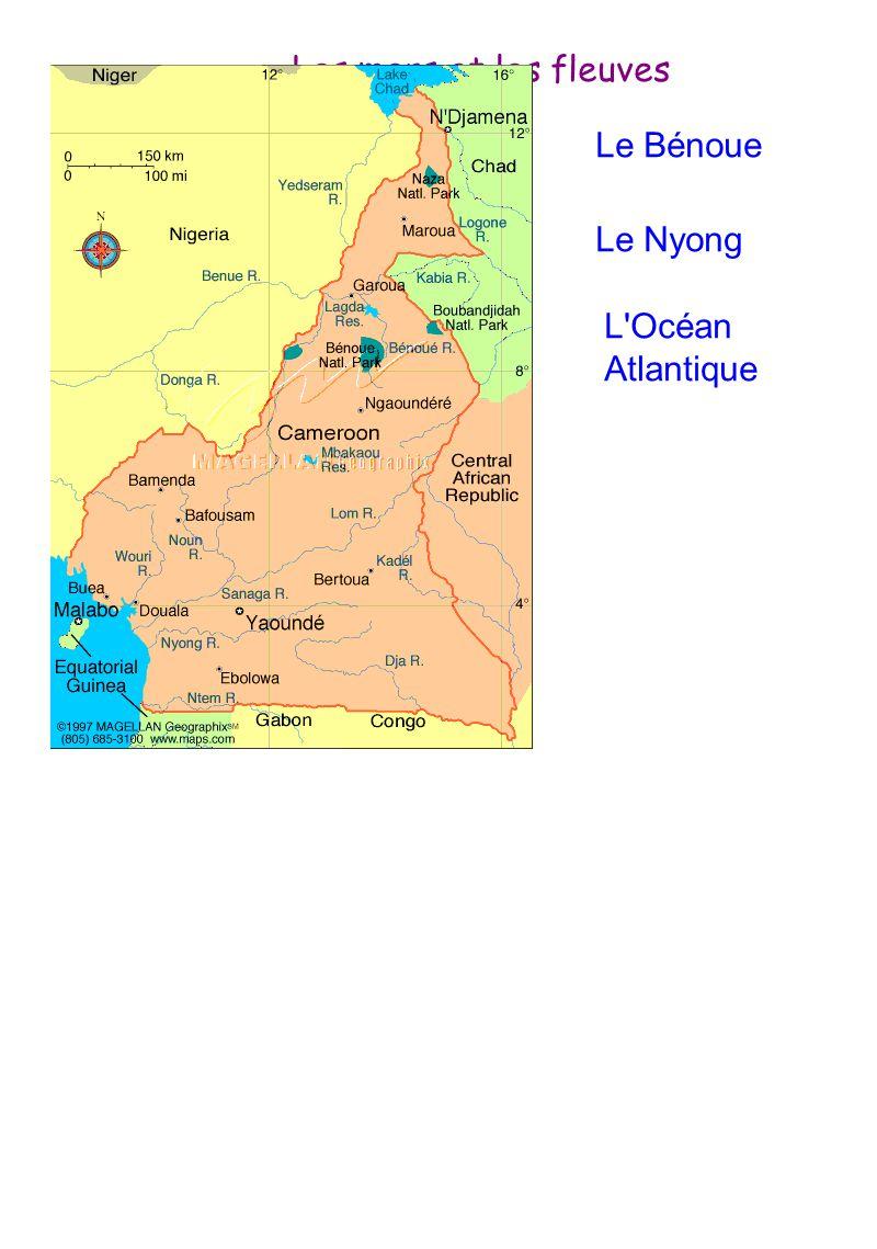 Les mers et les fleuves Le Bénoue Le Nyong L Océan Atlantique
